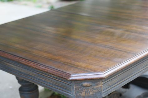 """Tutorial: How to use """"Howard Restor-A-Finish"""" in Walnut to achieve this finish."""