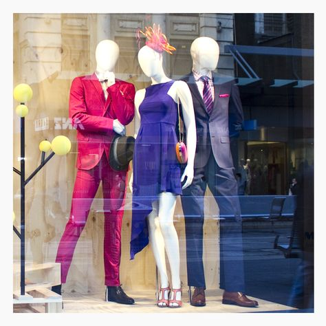 """Spotted - Our stunning Silk Shine Dress has been featured as part of the Myer Bourke St """"The Spirit Of Racing"""" window. #pilgrimclothing #springracing"""