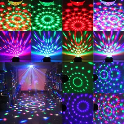 Sound Activated Strobe Light Rgb Disco Lights With 6 Ultra Bright Leds Glow Stick Party Ball Lights Disco Ball Light