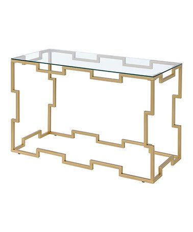 Love This Gold Contemporary Glass Top Console Table On Zulily