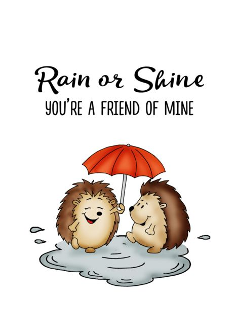 Rain Or Shine You Rsquo Re A Friend Of Mine Friendship Card Ad Spon Rsquo Shine Rain Card Friendship Cards Cards Greeting Card Artist
