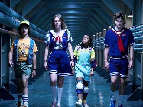 Stranger Things Scoops Troop, Dustin, Robin, Erica, Steve, Season 3