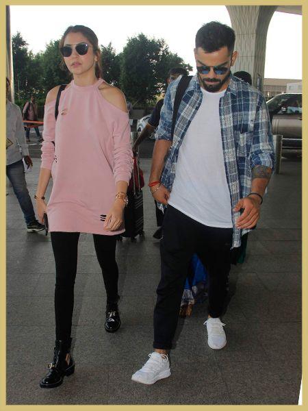 Anushka Sharma And Virat Kohli Airport Style Myfashgram