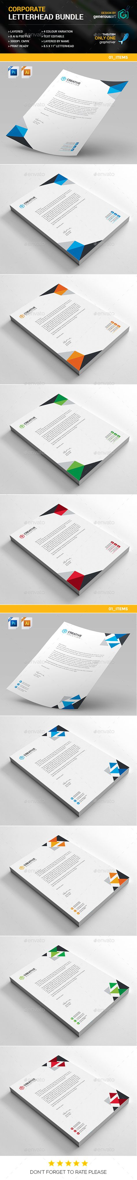 Letterhead bundle print stationery and template spiritdancerdesigns Image collections