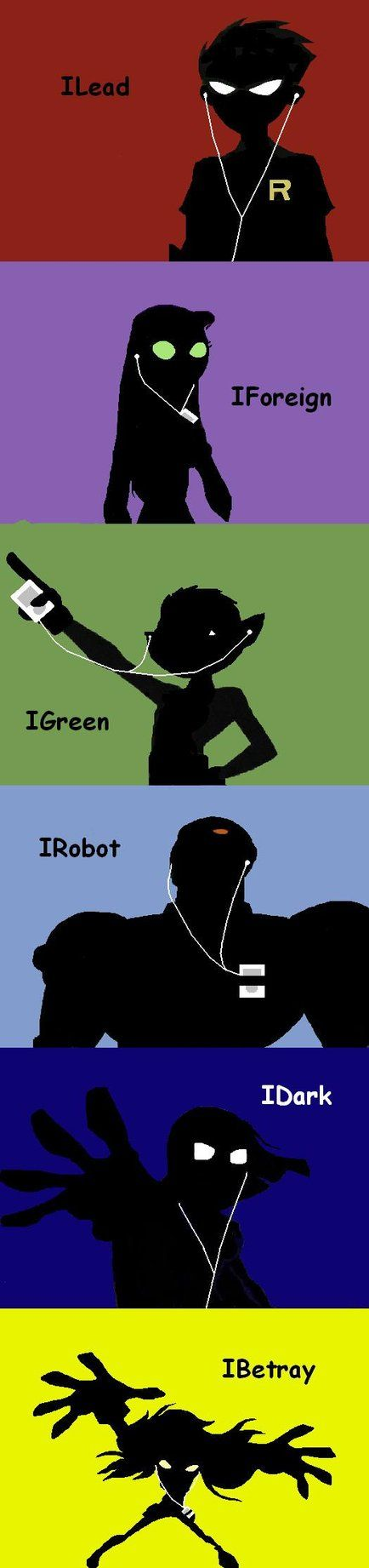 Teen titans iPod but I don't think that Terra should be labelled as betrayal