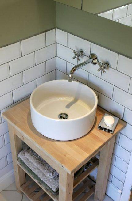 Bathroom Vanity Ikea Hack Bowl Sink 44 Super Ideas Small Bathroom Sinks Bathroom Sink Bowls Diy Bathroom Vanity