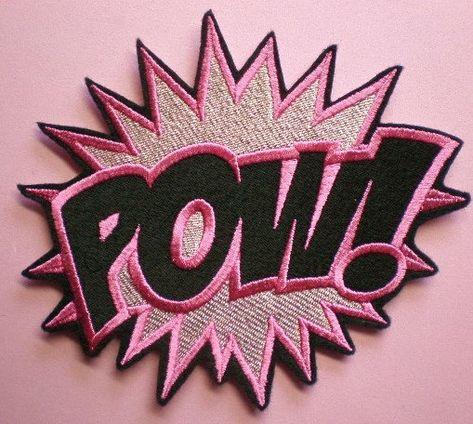 Grand fer de POW brodé sur Patch appliques, Super héros Patch, Patch de dessin animé, mot, sensibilisation au Cancer, Patch de coureurs, Roller Derby Patch