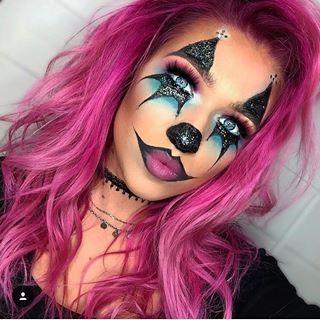 Makeup Makeupart Art Artist Halloween Halloweenmakeup Clown Clownmakeup Pinkhair Ma Halloween Makeup Clown Cute Halloween Makeup Halloween Makeup Diy