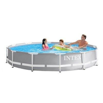 Intex 12 Foot X 30 Inches Durable Prism Steel Frame Above Ground Swimming Pool Best Above Ground Pool Above Ground Swimming Pools In Ground Pools