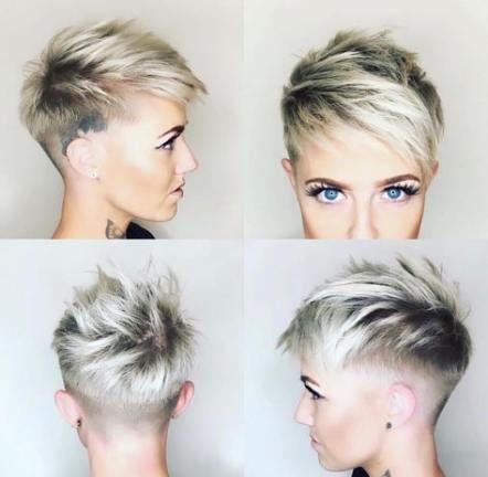 34 Ideas For Hair Short Pixie Shaved Hair Styles Thick Hair Styles Haircut For Thick Hair