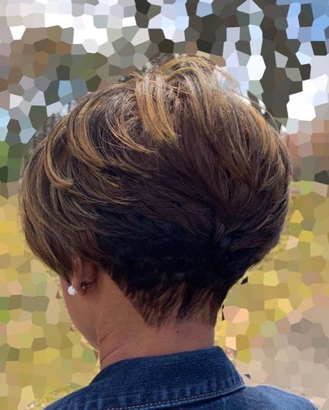 Kiersten & Company Salon - Kiersten and Company Short Stacked Hair, Short Hair Back, Short Sassy Hair, Short Hair With Layers, Short Hair Cuts For Women, Short Choppy Hair, Short Grey Hair, Short Cuts, Short Hairstyles For Thick Hair