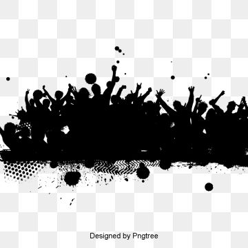 Party Crowd Silhouette Material Design Silhouette Ink Black Png Transparent Clipart Image And Psd File For Free Download Latar Belakang