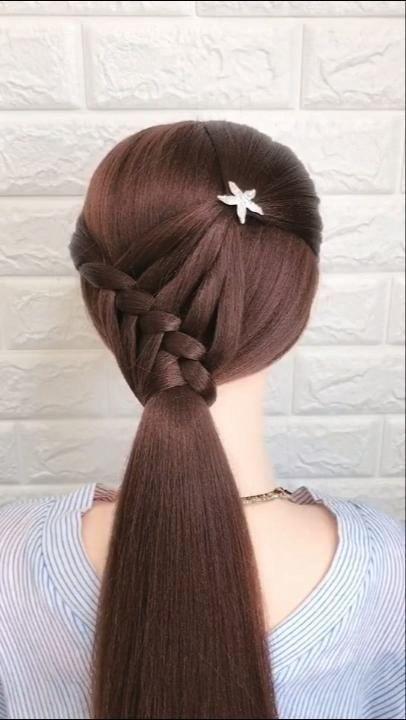 Braided Hairstyle For Long Hair Video Tutorial Simple And Beautiful 1000 Braids For Long Hair Hair Styles Hair Videos