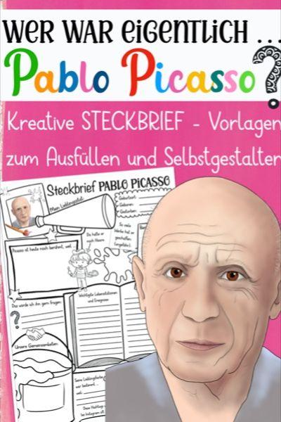 Wer War Eigentlich Materialpaket Kunstler Maler Unterrichtsmaterial In Den Fachern Geschichte Kunst Kunstunterricht Pablo Picasso Pablo Picasso Steckbrief
