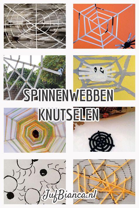 Tijdens het thema herfst is het leuk om een spin en/of een spinnenweb te knutselen. Klik en vind verschillende technieken om een spinnenweb te knutselen.