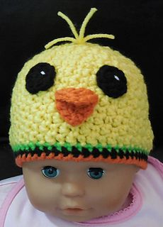 Peepers the Chick PDF Pattern for babies 1-12 months
