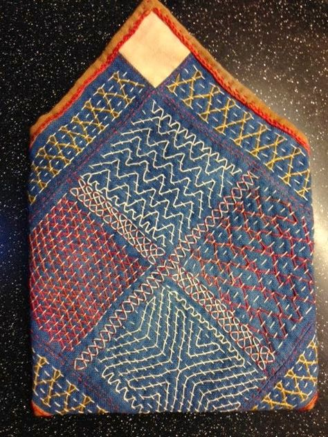 I would love to learn more about Kantha embroidery - the running stitch is similar to sashiko, but more colorful. Sashiko Embroidery, Indian Embroidery, Japanese Embroidery, Embroidery Art, Embroidery Stitches, Machine Embroidery, Embroidery Designs, Embroidery Supplies, Broderie Simple