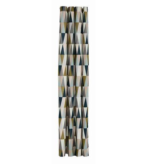 Ferm Living Douchegordijn Spear multicolour katoen waterproof 160x205cm -  wonenmetlef.nl f5ff61a27e395
