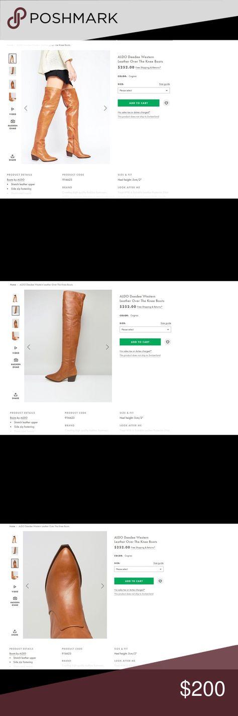 11dc6770234 Aldo Over The Knee Boots Aldo Deedee Western Leather Over The Knee Boots in Cognac  Aldo
