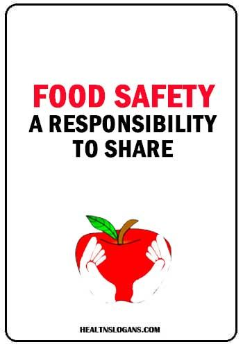 Food Safety A Responsibility To Share Foodsafetyslogans Senitation Foodhygiene Food Poster Safety Slogans Food Safety Food Safety Posters