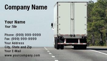 Transportation Trucking Tractor Trailer Truck Driver Trucking Business Business Card Design Business Cards