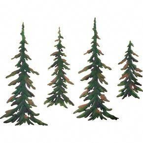Evergreen Pine Tree Metal Wall Decor Set Metal Tree Wall Art
