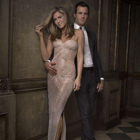 Jennifer Aniston & Justin Theroux at the Vanity Fair Oscar Party