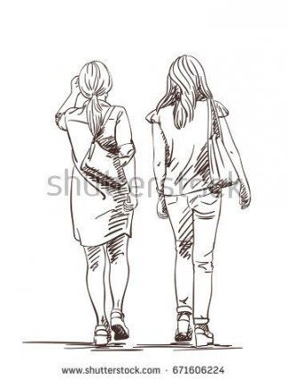 How To Draw Women Back 48 Ideas Human Figure Sketches Walking Women Drawings