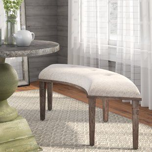Indoor Curved Bench Wayfair Furniture Upholstered Bench