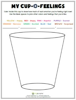 Color+inside+this+cup+to+show+how+much+of+each+emotion+you're+feeling+right+now.++