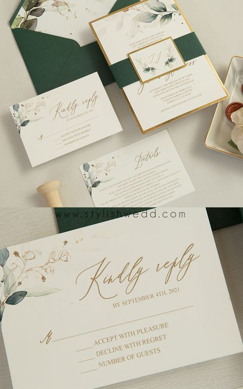 $1.35 The greenery botanical design is perfect for any season and this is an invitation that is sure to impress. #weddinginspirationss#weddinginvitations#stylishwedd#vellumweddinginvitations#savethedate#weddingstationery
