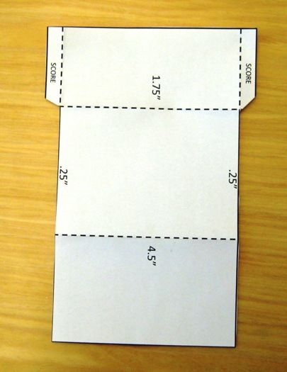 Gift card holder template.