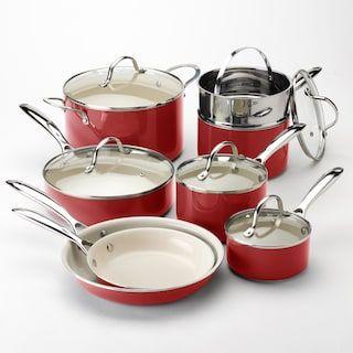 Food Network 13 Pc Ceramic Nonstick Cookware Set With Images Ceramic Nonstick Cookware Ceramic Cookware Set Ceramic Cookware