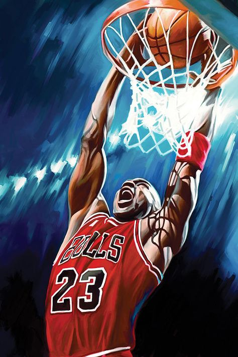 Nba Painting - Michael Jordan Artwork by Sheraz A Basketball Drawings, Basketball Art, Basketball Pictures, Basketball Players, Basketball Boyfriend, Basketball Motivation, Basketball Videos, Street Basketball, Basketball Birthday