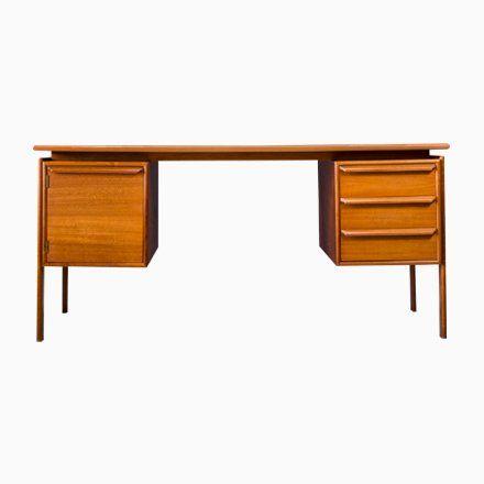 Mid-Century Teak Desk by G.V. Gaasvig for Gv Møbler, Denmark, 1960s