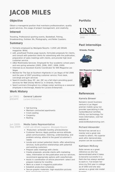 Resume Examples General Labor Resume Templates