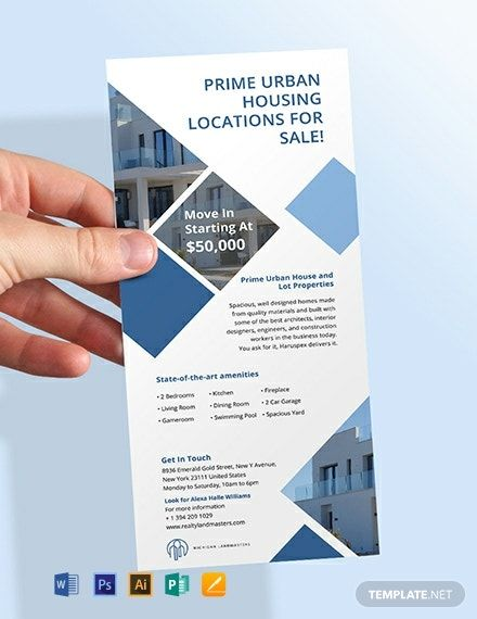 Instantly Download Free Real Estate Agency Rack Card Template Sample Example In Microsoft Word Doc Rack Card Templates Printable Business Cards Rack Card