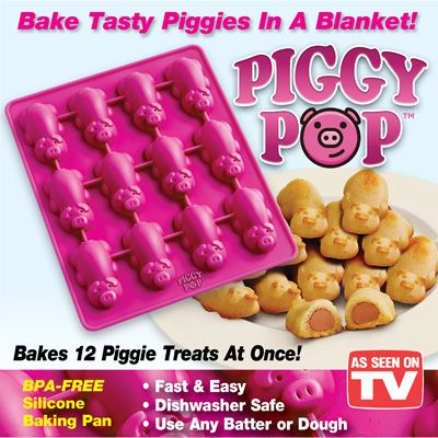 Piggy Pop Pigs In A Blanket Non Stick Silicone Pan Silicone