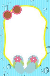 Girls At The Pool Free Printable Kit Tarjetas De