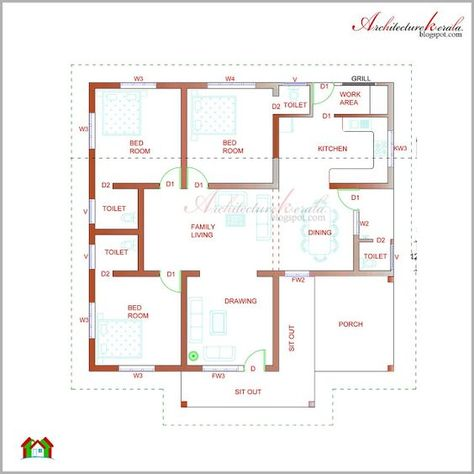 Architecture Kerala Beautiful Kerala Elevation And Its Floor Plan Basement House Plans Architectural House Plans Kerala House Design