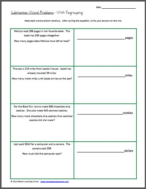 math worksheet : 11 best math word problems images on pinterest  teaching ideas  : Subtraction Word Problems 3rd Grade
