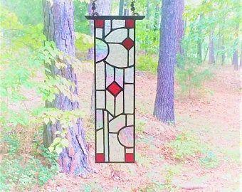 Pristine stained glass panel gift glass art stained glass window suncatcher garden decoration