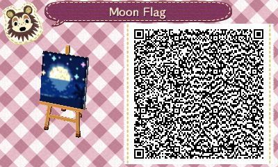 Hi There Not Sure If Your Still Helping With Flag Designs My Town Is Called Tsukibay Meaning Moon Bay I Was C In 2020 Flag Design Animal Crossing Animal Crossing Qr
