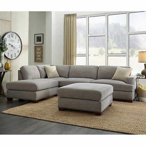 Bainbridge Sinclair Fabric Sectional With Ottoman Fabric Sectional Sectional Sofa With Chaise Couch With Ottoman