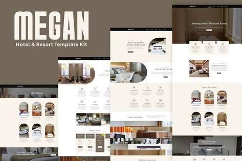 Megan — Hotel Booking Template Kit | Stylelib