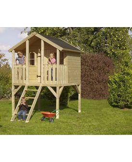 Mr Gardener Kinderspielhaus Achim Bxhxt 180 X 287 X 190 Cm Holz Natur Hagebau De Kinderspielhaus Stelzenhaus Kinder Gartenhaus