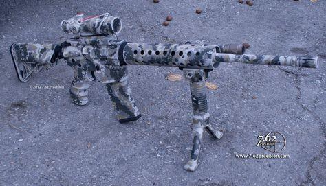 "AR-15 duracoated in ""Cypsis"" camo"