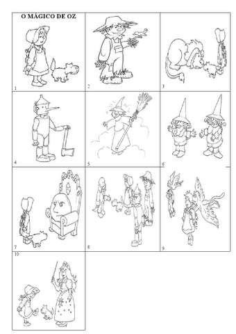 Desenhos De O Magico De Oz Para Colorir Magico De Oz Magico De