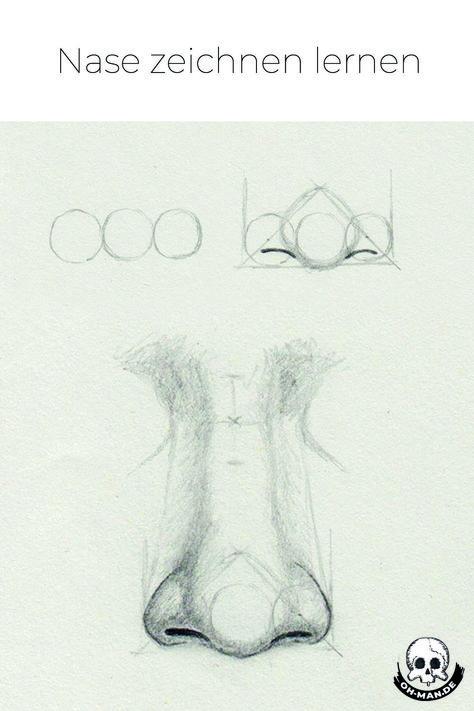 In diesem Tutorial findet man eine Schritt für Schritt Anleitung, wie man eine Nase zeichnen kann. Es werden auch zwei andere Nasenformen angeschnitten. #nase #zeichnen #lernen #zeichnung