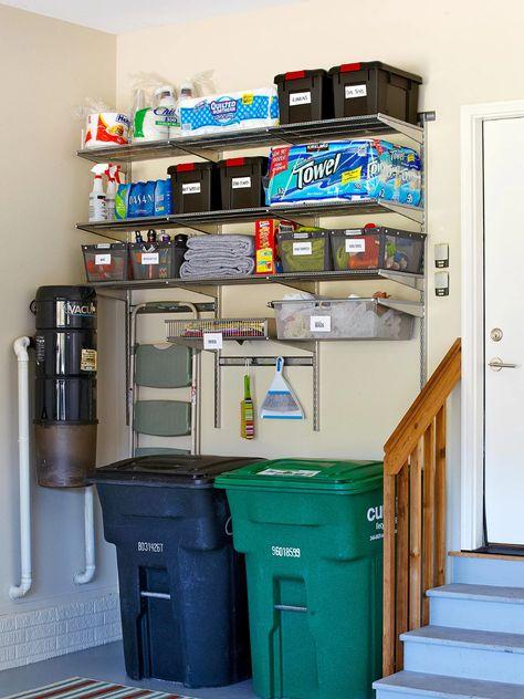 DIY storage hacks to turn your garage into a port – home diy organizations Garage Organization Tips, Do It Yourself Organization, Diy Garage Storage, Storage Hacks, Garage Ideas, Storage Solutions, Garage Decorating Ideas, Linen Closet Organization, Diy Garage Shelves